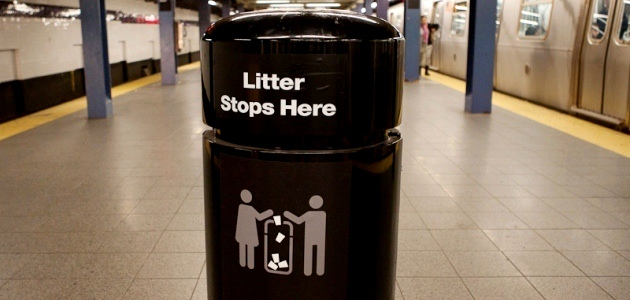MTA Trash Can