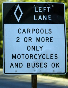 Carpools 2 or more only