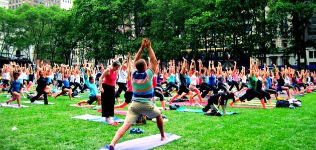 Bryant Park Yoga 2013