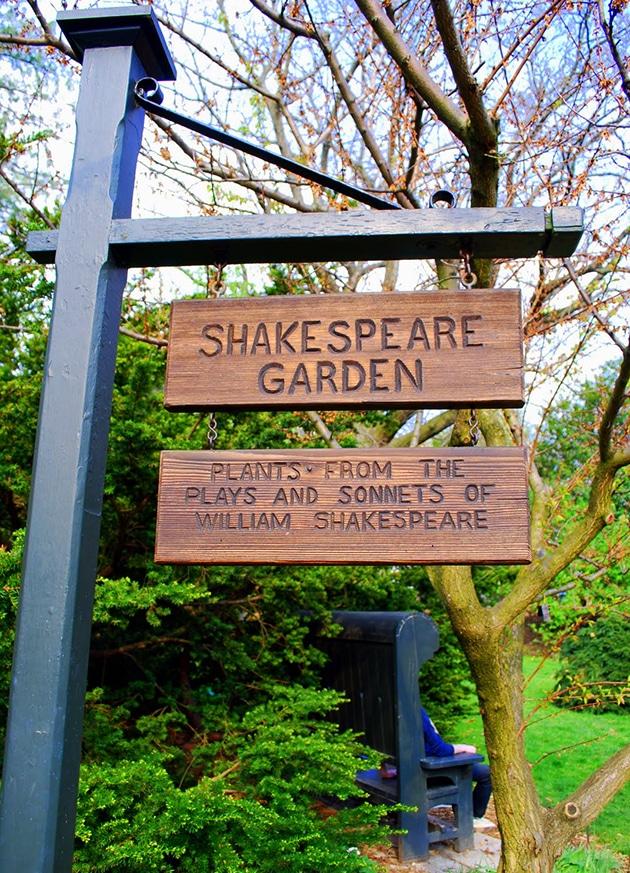 Shakespeare Garden targa