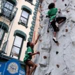New York Summer Streets Muro Arrampicata